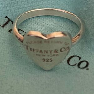 Authentic Tiffany & Co. Heart Tag Ring